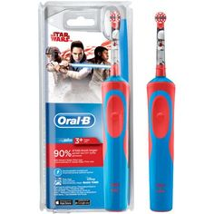 Oral-B Kids Electric Rechargeable Toothbrush Featuring Star Wars Characters Kids Electric Toothbrush, Oral B Sensitive, Oral B Vitality, Oral B Braun, Star Wars Kids, Star Wars Characters, Health, Appliances, Salud
