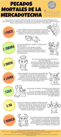 Los 7 pecados capitales del Marketing Fuente: @EspacioInfoSol #infografia #infographic #socialmedia