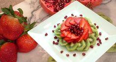 Strawberry, Kiwi, and Pomegranate salad