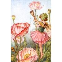 Accent your garden nursery or girl's bedroom with this lovely fairy wall art featuring beautiful peony flowers.