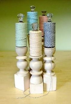 """It's Written on the Wall: Craft Room Organizing-Store over 200 Rolls of Ribbon in a 12"""" square Space!"""