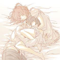 Cute Anime Couples ♥ Ikuto and Amu from Shugo Chara. Anime Couples Cuddling, Anime Couples Sleeping, Cute Anime Couples, Couple Cuddling, Anime Couples Hugging, Anime Couples Manga, Couple Amour Anime, Couple Manga, Anime Shows
