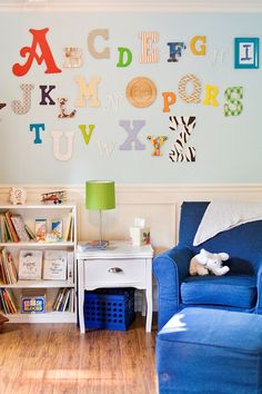 nursery with abc letters | Awesome image courtesy of Collected