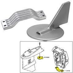 Tecnoseal Anode Kit w/Hardware - Yamaha 150-200HP - Magnesium - https://www.boatpartsforless.com/shop/tecnoseal-anode-kit-whardware-yamaha-150-200hp-magnesium/
