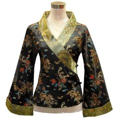 Bitablue Japanese Kimono Style Dragon And Phoenix Jacket (4.105 RUB) found on Polyvore featuring tops, shirts, jackets, dresses and jackets and sweaters