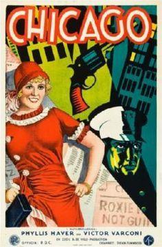 Chicago Poster Swedish, Art Deco 24inx36in