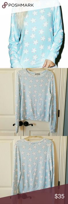 Wildfox Stars and Hearts Baggy Beach Jumper EUC Super soft and cute!  Only worn once.  No flaws. Wildfox Tops Sweatshirts & Hoodies