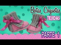 How To Crochet Cute Baby Booties Booties Crochet, Crochet Baby Boots, Cute Crochet, Crochet For Kids, Baby Booties, Knit Crochet, Crochet Baby Blanket Beginner, Baby Knitting, Crochet Designs