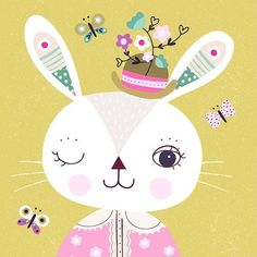 cf832a1a08085 Happy Bunny Day!  beebrownhive  easter  rabbit  surfacedesign  beebrown   jennifernelsonartists