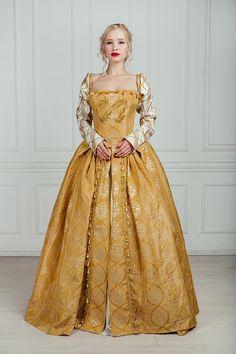 Old Dresses, Pretty Dresses, Vintage Dresses, Beautiful Dresses, Vintage Outfits, Vintage Fashion, Elizabethan Dress, Medieval Dress, Medieval Clothing