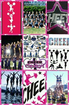 Cheerleading collage