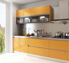 Colorful Kitchen Decor, Kitchen Colors, Stainless Steel Kitchen Cabinets, House, Home Decor, Decoration Home, Home, Room Decor, Home Interior Design