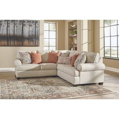 Amici Contemporary Linen Sectional, Ivory, Signature Design by Ashley Small Sectional, 3 Piece Sectional, Reclining Sectional, Corner Sectional, Loveseat Sofa, Recliner, Modular Design, Signature Design, Furniture Deals