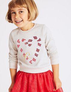 Cotton Rich Sweatshirt (3 Months - 6 Years) | M&S
