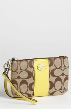 COACH 'Legacy Signature - Small' Wristlet available at #Nordstrom