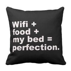 Shop Perfection Pillow created by maripillows. Cute Room Ideas, Cute Room Decor, Teen Room Decor, Room Ideas Bedroom, Bedroom Decor, Bedroom Designs, Funny Throw Pillows, Cute Pillows, Teen Girl Bedrooms