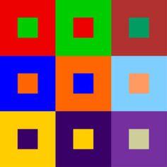 Diseño gráfico y teoría del color: Los diferentes tipos de contraste – Blog.Megacursos.com | VFX, 3D y diseño gráfico Johannes Itten, Contrast Art, Abstract Geometric Art, Color Studies, Teaching Art, Color Theory, Bauhaus, Color Mixing, Pop Art