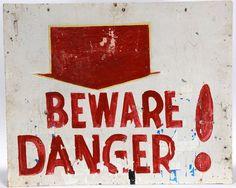 Prophet Royal Robertson. Beware Danger! : Lot 225