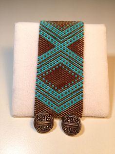 Chevron Delica Beads Bracelet Selling for $60