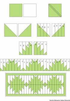 New Patchwork Quilt Patterns Ideas Triangles Ideas Patchwork Quilting, Scrap Quilt, Seminole Patchwork, Patchwork Patterns, Quilt Block Patterns, Quilting Tips, Quilting Tutorials, Pattern Blocks, Quilting Designs