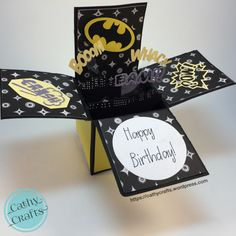Batman Pop Up Box Card