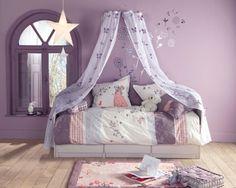 lit violet  etoile suspendue