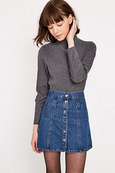1de4b5733a Urban Outfitters Brushed Turtleneck Top - Urban Outfitters Visual Kei