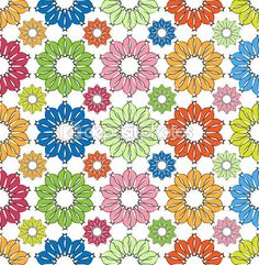 Colorfully Flowers Pattern poster, t-shirt, mouse pad Flower Patterns, Stock Photos, Quilts, Flowers, Poster, Free, Graphics, Shirt, Products