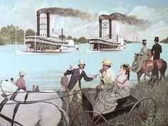 Gambling on a riverboat race. #gambling #gamblers www.OneMorePress.com