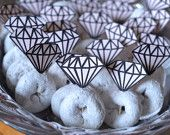 Bridal shower/ bachelorette party decorations - diamond ring donut toppers