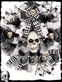 Halloween Wreath; Mantel Decor; steampunk decor; goth wedding decorations; gothic bedroom ideas modern; skull wreath halloween; skeleton wreaths front doors; spooky halloween decorations; horror decor ideas; skeleton love; skeleton wreath; mr bones skeleton; day of the dead skull; halloween door hangers; halloween decorations; gothic home decor; goth bedroom; creepy halloween decorations; thinking of you gifts #steampunkdecor #gothwedding #gothichomedecor #skulldecor #skeleton…