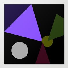 Triangulate Canvas Print by ericrasmussen Cool Wall Art, Canvas Prints, Symbols, Letters, My Favorite Things, Polyvore, Design, Decor, Dekoration