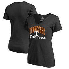 Tennessee Volunteers Fanatics Branded Women's Plus Sizes Victory Script T-Shirt - Black