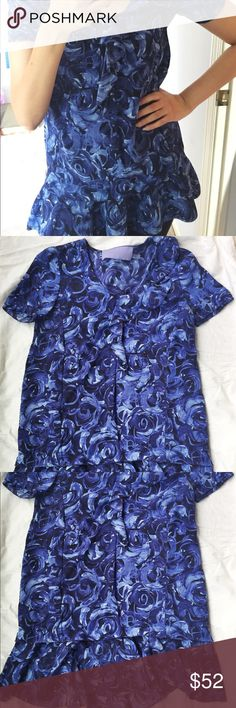 🎽Vera Wang silk tunic🎽 100% silk Vera Wang Lavender Label drop-waist peplum tunic. there's a ruffle detail on the front of the shirt that's hard to see in photos. Vera Wang Tops Tunics