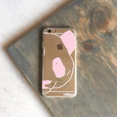 Clear TPU Case Cover - Pink Panda