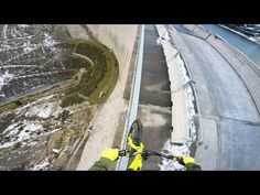 Bike balancing 200m high up - Fabio Wibmer - YouTube