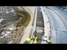 Bike balancing 200m high up - Fabio Wibmer - YouTube