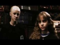 Hermione and Malfoy Harry Potter Draco And Hermione, Ron Weasley, Draco Malfoy, Hermione Granger, Harry Potter Cursed Child, Harry Potter Films, Hogwarts, Slytherin, Dramione
