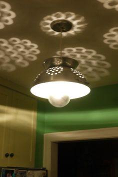 Nicola Silver Colander Lamp