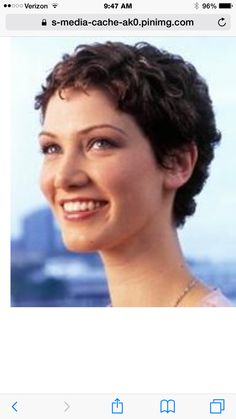 Haircuts Short Curly Hair - This short pixie cut on curly hair features short layers all over the head and longer layers framing the nape of the neck Curly Pixie Haircuts, Short Curly Hairstyles For Women, Haircuts For Curly Hair, Hairstyles Haircuts, Curly Hair Styles, Cool Hairstyles, Hairstyle Ideas, Style Hairstyle, Hair Ideas