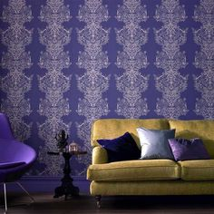 Laurence Llewelyn-Bowen Sinbad Wallpaper, Ink Blue