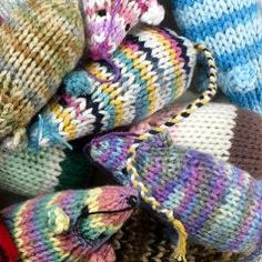 Viva le Chat Knitted Catnip Mice : Hair of the Dog London - Dog Accessories and Cat Accessories in Highgate