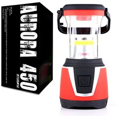 Internova Aurora 450 - 360 Degree Duel Colored LED Camping and Emergency Lantern - Backpacking - Hiking - Auto - Home - College (Sunset Red) - The Aurora 450 by Internova is the ultimate battery powered camping and emergency lantern. It features: - 450 Maximum Lumens Output - Dual LED lights that provide both white and red light for your camping or emergency needs - 7 Full Hours of non-stop lighting goodness on a single set of batteries...