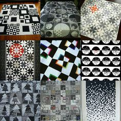 The contrast of black and white in a quilt intrigues me...with or without a pop of color.  Let the planning begin #bwqs_blackjaguar #blackandwhitequiltswap