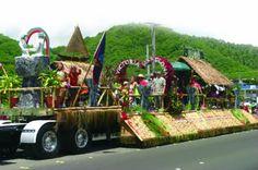 July 2011 - Guam Liberation Day Parade Float: winning entry from Barrigada village. Liberation Day, Guam, South Pacific, Islands, Hawaii, Celebrations, Happy, Ser Feliz, Hawaiian Islands