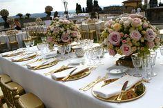 Tuscan wedding Table settings