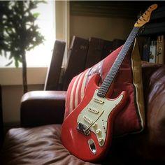 1963 Fender Stratocaster in fiesta red
