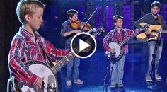Watch this and you could swear these 3 young brothers are channeling some classic Earl Scruggs or Skaggs himself. At front and center there's 9-year-old...