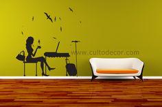 Silhuetas em vinil autocolante! Escolha o tamanho, a cor e o acabamento (mate/brilho) http://www.cultodecor.com