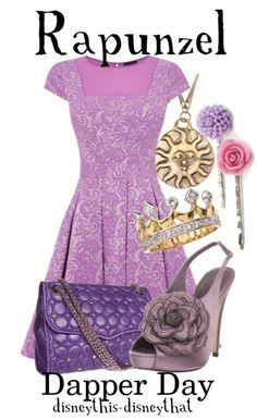Disney bound: rapunzel from disney's tangled (dapper day outfit) by disneythis-disneythat Moda Disney, Disney Mode, Punk Disney, Disney Themed Outfits, Disney Dresses, Disney Clothes, Rapunzel Outfit, Disneybound Outfits, Disney Inspired Fashion